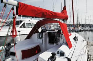 Ensemble sellerie nautique - Sunbrella red
