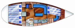 Plan intérieur Dufour 36 Classic