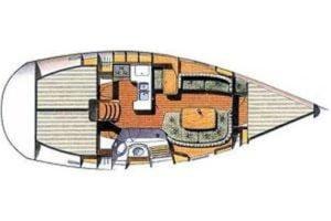 Plan intérieur Oceanis 361